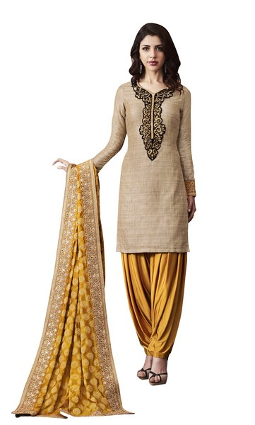 Designer Khadi Silk Semi Stitched Dress Material SC3067