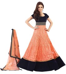 Designer Semi Stitched Orange Anarkali SC48002
