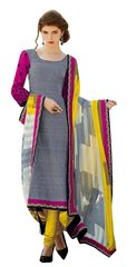 Designer Bhagalpuri printed Blue Print Yellow Salwar kameez SC6391B