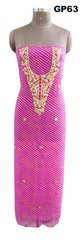 Jaipuri Lehariya Georgette Gotta Patti work Purple Kurti Kurta Fabric GP63