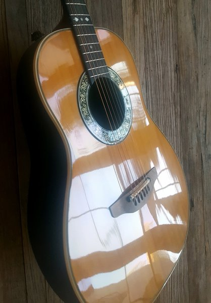 vintage near mint condition ovation model 1614 made in usa acoustic electric steel string guitar. Black Bedroom Furniture Sets. Home Design Ideas