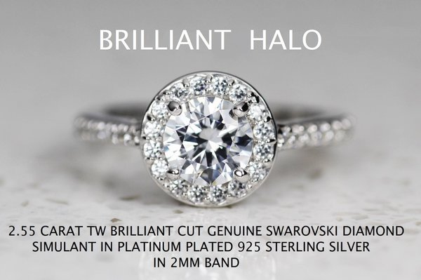 engagement emerald ring deco promise cut media diamond ct silver simulants halo bridal simulant sterling wedding rings art solid