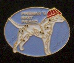 Fireman's Best Friend Dog Fire Department Pin #GE06050