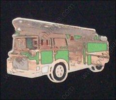 Green Ladder Fire Department Truck Hat Pin #GE05366