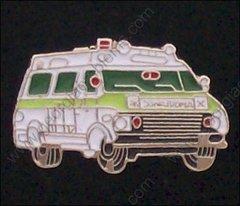 Ambulance Green Trim Hat Pin #GE05374