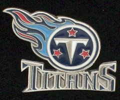 Tennessee Titans Pewter NFL Team Logo Pin