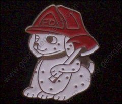 Dalmation Dog and Axe Fire Department Hat Pin #GE06905