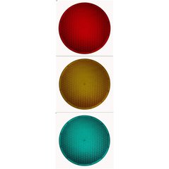 Eagle Polycarbonate 12 Inch Traffic Light Lens Choose Red, Yellow, or Green
