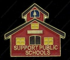 Little Red School House Support Public Schools Education Hat PIn #GE00560