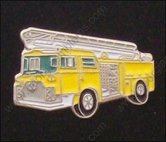 Yellow Ladder Fire Truck Pin #GE05368