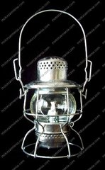 Adlake Lantern with Tin Finish with Choice of Globe Color