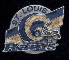 St. Louis Rams Pewter NFL Team Logo Pin
