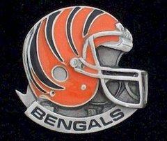Cincinnati Bengals NFL Pewter Helmet Pin