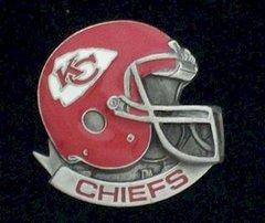 Kansas City Chiefs NFL Pewter Helmet Pin