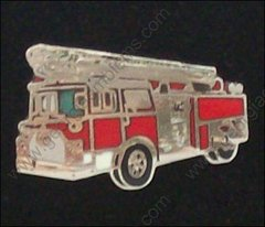 Fire Department Red Ladder Truck Hat Pin #GE05365