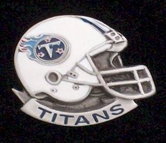 Tennessee Titans NFL Pewter Helmet Pin