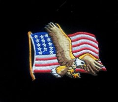 Eagle with Flag Patch #GE3152