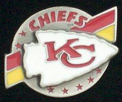 Kansas City Chiefs Pewter NFL Team Logo Pin