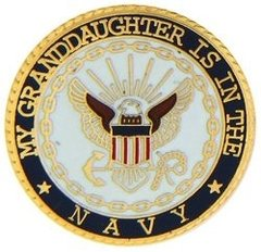 My Granddaughter Is In The Navy Pin #91-14523