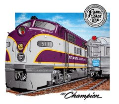 Atlantic Coast Line ACL The Champion Railroad T-Shirt