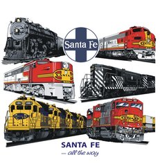 Santa Fe All the Way Railway T-Shirt **DISCONTINUED