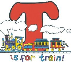 T is for Train Railroad Train Youth T-Shirt **DISCONTINUED