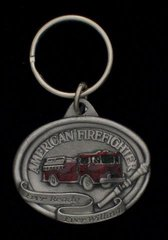 American Firefighters Pewter Key Chain #GE2009