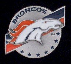 Denver Broncos Pewter NFL Team Logo Pin