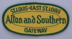 Alton & Southern Oval Railroad Patch #14-0924