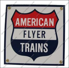 American Flyer Trains Railroad Porcelain Sign #57-1000