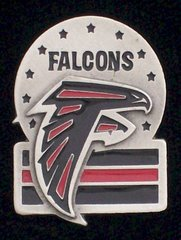 Atlanta Falcons Pewter NFL Team Logo Pin