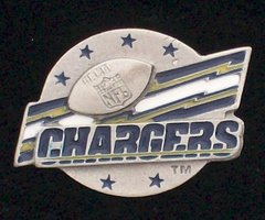 San Diego Chargers Pewter NFL Team Logo Pin