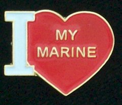 I Heart (Love) My Marine Pin #93-15344