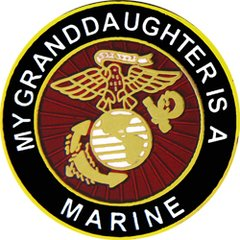 My Granddaughter Is A Marine Pin #93-15814