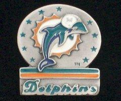 Miami Dolphins Pewter NFL Team Logo Pin