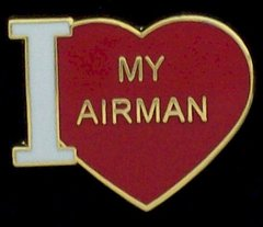 I Heart (Love) My Airman Hat Pin #GE15341