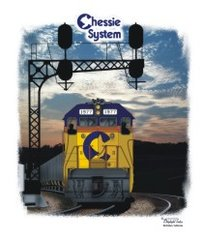 Chessie System Sunset Railroad T-Shirt **DISCONTINUED
