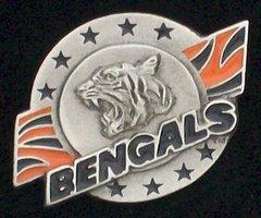 Cincinnati Bengals Pewter NFL Team Logo Pin