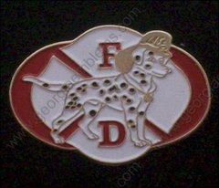 Fire Department Dalmation Logo Pin #GE05247