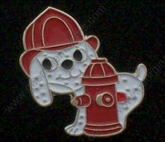 Dalmation Dog & Fire Hydrant Hat Pin #GE06279
