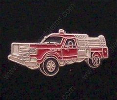 Mini Fire Department Truck Hat Pin #GE02326