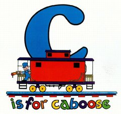 C is for Caboose Railroad Train Youth T-Shirt **DISCONTINUED