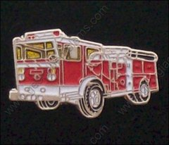 Red Fire Truck Pin #GE05363