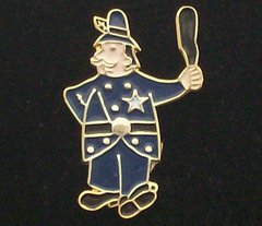Bobby Cop Police Officer Hat Pin #GE63128