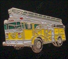 Yellow Ladder Fire Truck Pin #GE02343