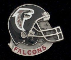 Atlanta Falcons NFL Pewter Helmet Pin