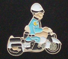 Motorcycle Cop Police Hat Pin #GE2029