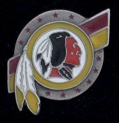 Washington Redskins Pewter NFL Team Logo Pin