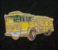 Yellow Fire Truck Pin #GE05355