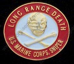 U. S. Marine Corps USMC Sniper Long Range Death Pin #GE15946
